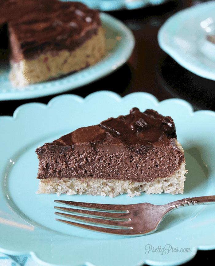 Nutella Pie (Vegan, Paleo, Keto) PrettyPies.com