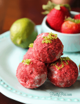 Strawberry Daiquiri Bites (Vegan & Paleo) PrettyPies.com