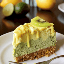 Lemon Lime Cheesecake (:ow-Carb, Vegan, Paleo) PrettyPies.com