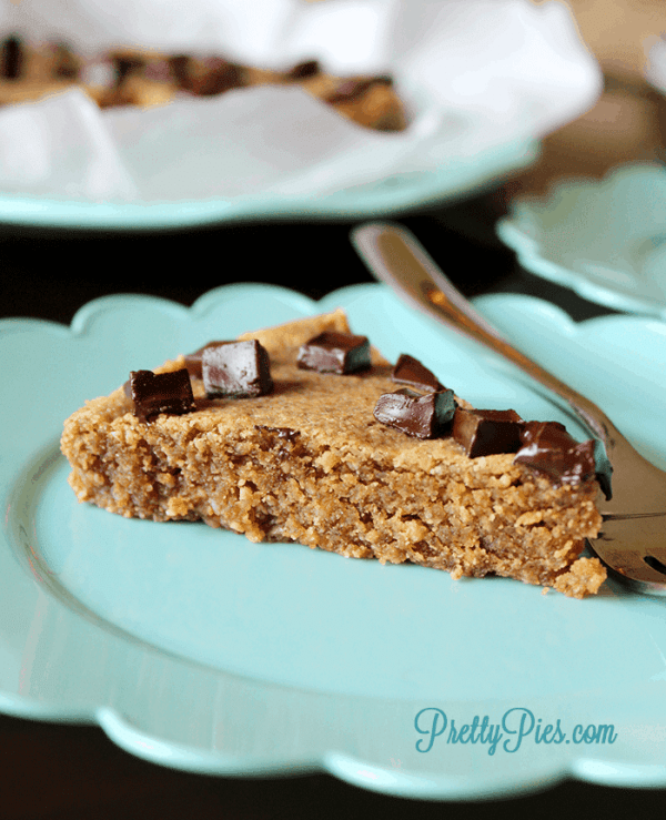 Peanut Butter Cookie Pie (Low-Carb & Vegan) PrettyPies.com