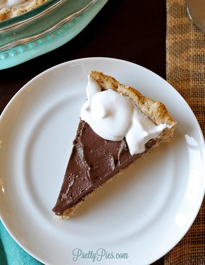Chocolate Pie (Low-Carb, Paleo, Vegan) PrettyPies.com