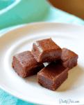 4-Ingredient Fudge (Dairy-Free, Sugar-Free) PrettyPies.com