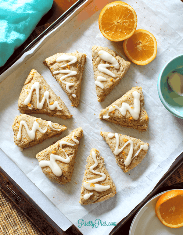 Orange Scones (Paleo, Vegan, Keto) PrettyPies.com