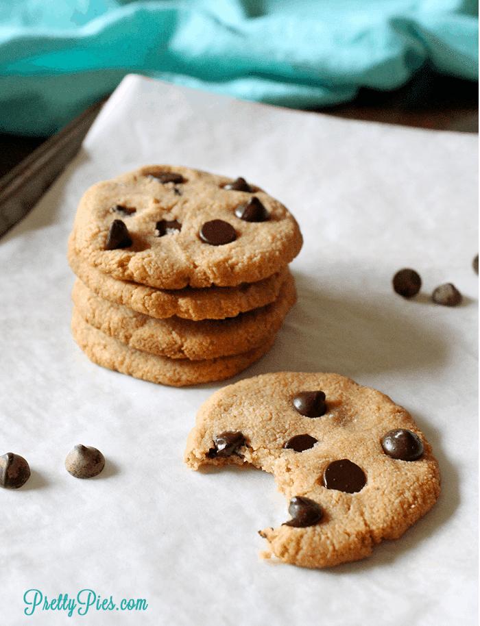 Chewy Chocolate Chip Cookies (Keto, Paleo, Vegan) PrettyPies.com