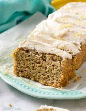 Low-Carb Lemon Loaf Cake PrettyPies.com