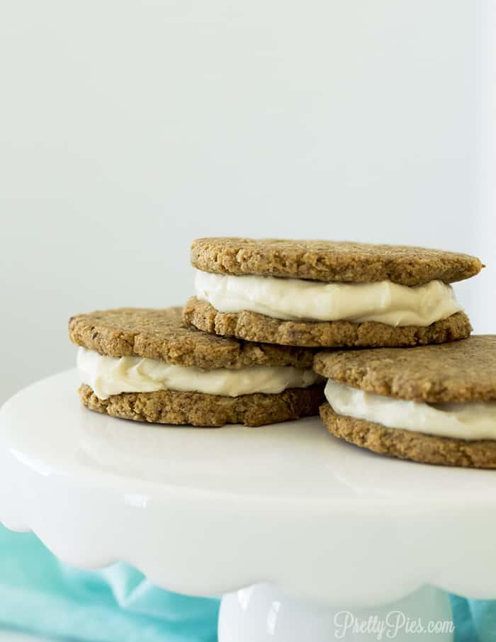 Low-Carb Oatmeal Cream Pies (Dairy-Free, Paleo, Vegan) PrettyPies.com