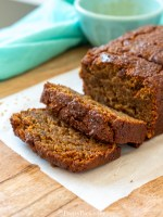 low carb Pumpkin Bread loaf sliced