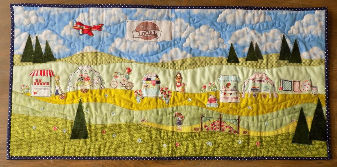 vintage market landscape quilt