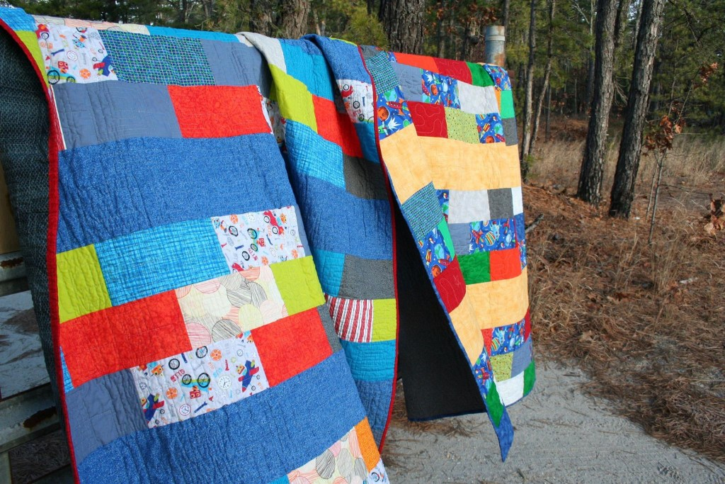 robots and outer space quilts
