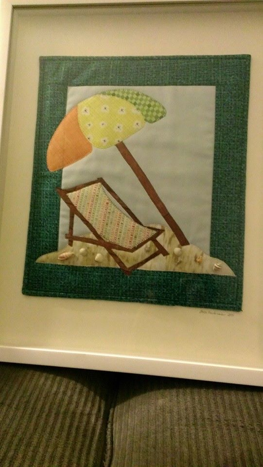 beach chair mini quilt