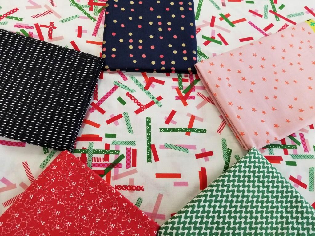 six coordinating fabrics