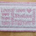 mug rug breast cancer