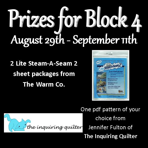 quilt-a-long block four prizes