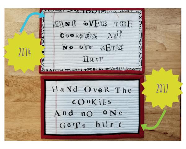 mug rug ransom notes