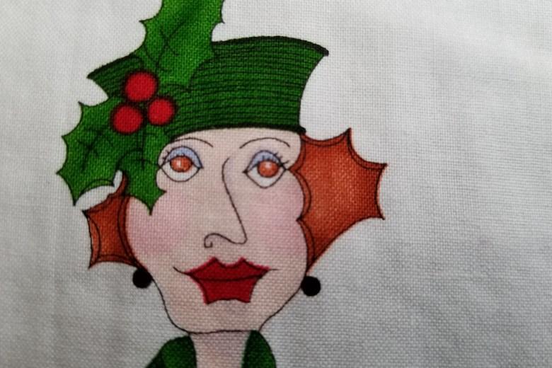 Christmas Lady Mug Rug