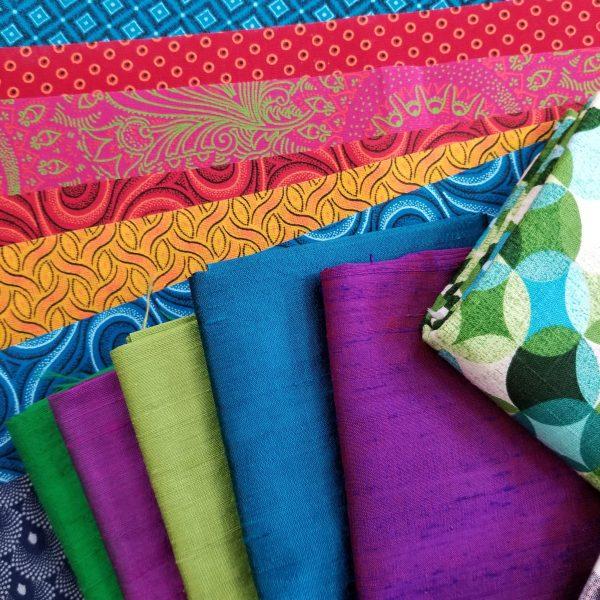 Silk and shweshwe fabrics