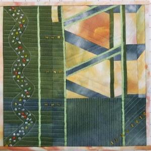 Lines Challenge Art Quilt