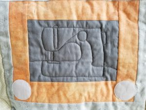 What I Made Monday Sketchy Quilt Sewing Machine
