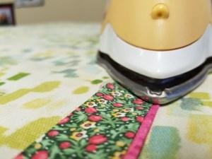 Creating faux flange binding