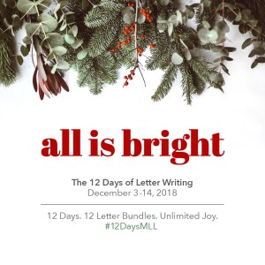 12 Days of Letter Writing
