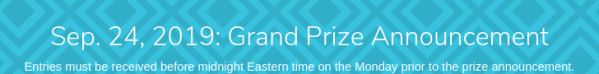 Sep. 24, 2019: Grand Prize Announcement