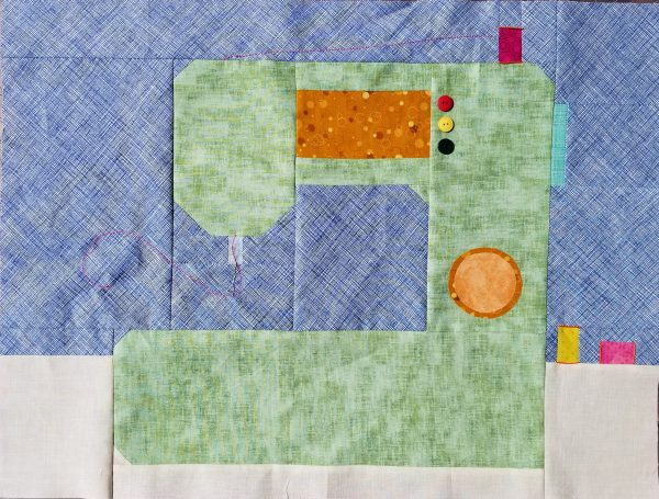 Sew Let's QAL Sewing Machine Quilt Block