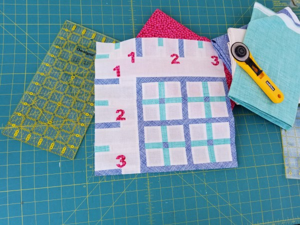 Sew Let's Quilt Along Block Three Ruler