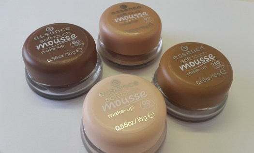 essence Soft Touch Mousse shades 01 02 09 50 60 foundation