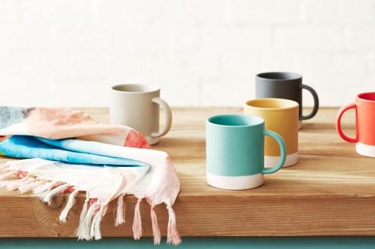 Cotton On homeware kitchen mugs neutral yellow black blue
