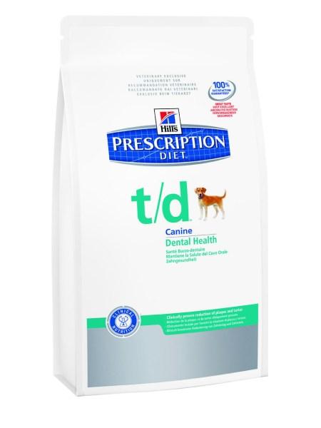 Hill's Prescription Diet t/d dry dog food kibble Pretty Please Charlie