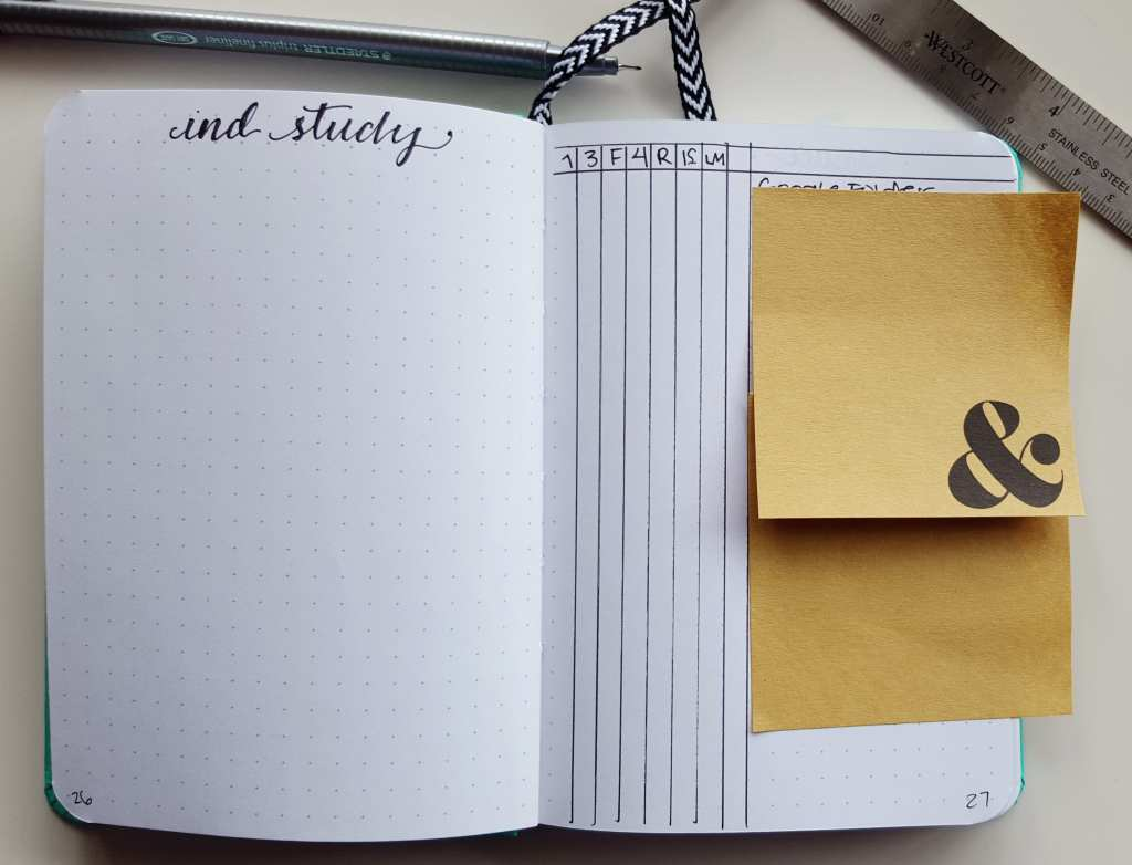 One example of how you can use the bullet journal for project planning // www.prettyprintsandpaper.com