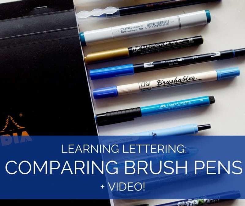 Are you looking at experimenting with brush pens and brush calligraphy? Check out this comparison of a few popular brush pens and see them in action! // www.prettyprintsandpaper.com