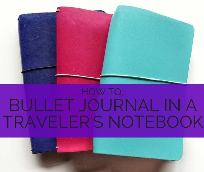 A walk through of how to bullet journal in a traveler's notebook // www.prettyprintsandpaper.com