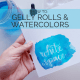 How to do a quick watercolor resist with just a gelly roll! // www.prettyprintsandpaper.com