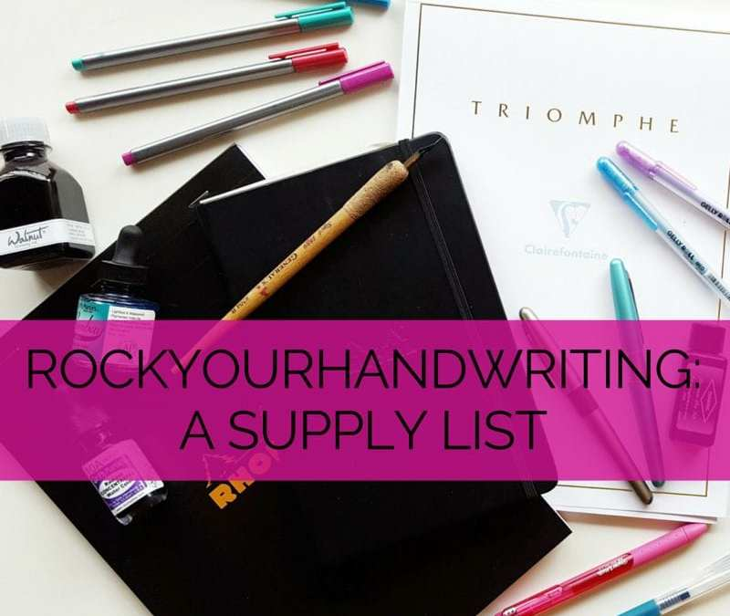 Getting into practicing your handwriting? Check out a list of my recommendations for beginners supplies // www.prettyprintsandpaper.com