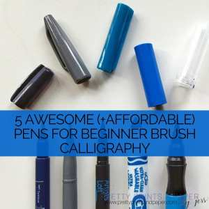 Check out 5 awesome beginner pens for brush calligraphy - and NOT a Tombow Dual Brush Pen!