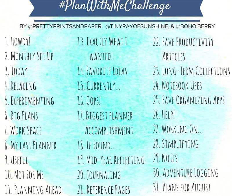Join @prettyprintsandpaper, @tinyrayofsunshine, and @boho.berry in sharing and refining your planning system this July in the #planwithmechallenge