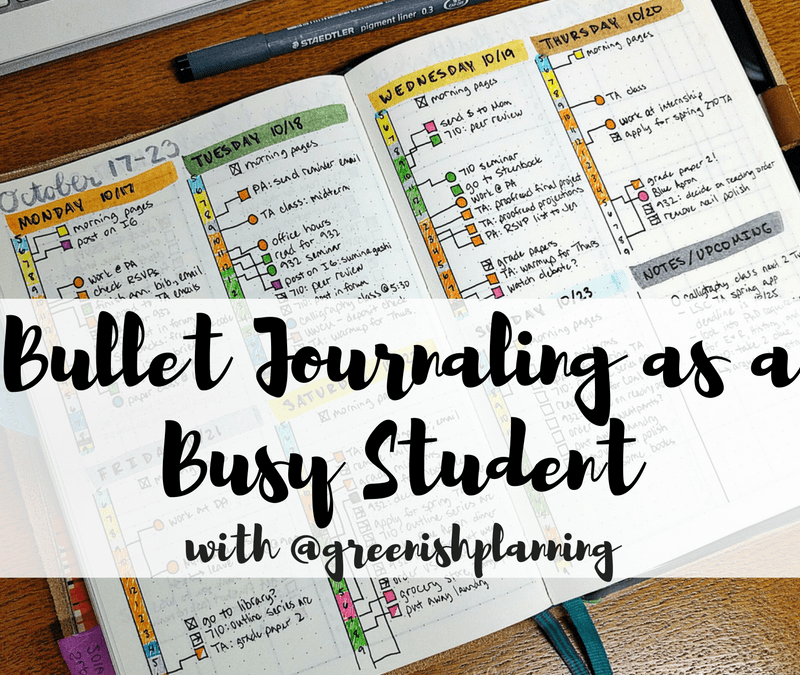 Use the bullet journal to stay sane as a student - check out tips from Jady on the blog today!