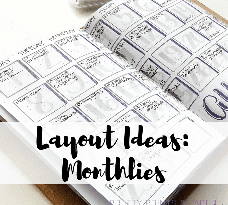 Need some ideas for how you set up your monthlies? Here is an archive of a lot of my monthly layout experiments!