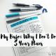Why I actually don't have a 5 year plan, and am guided by different things instead