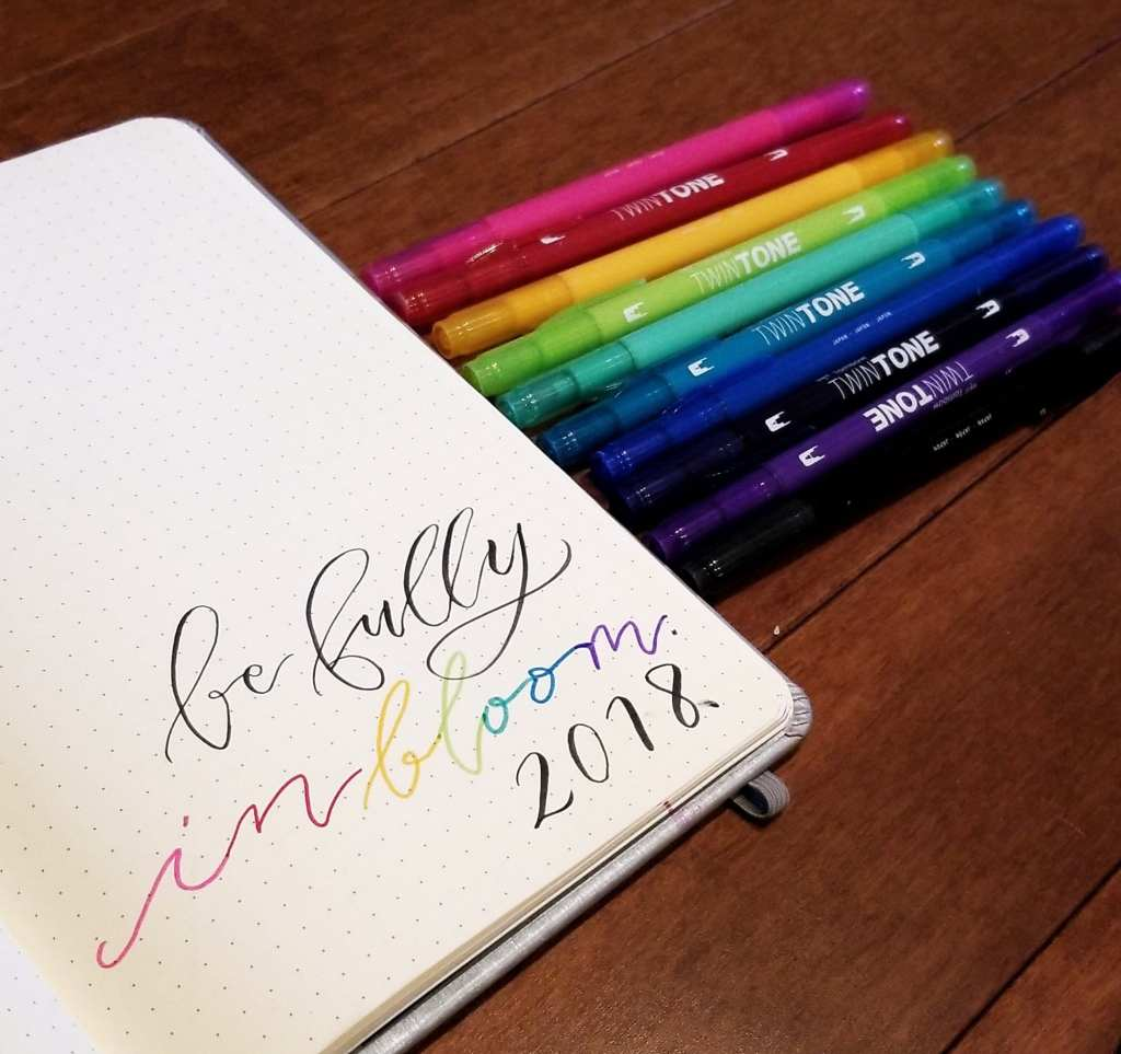 January bullet journal set up