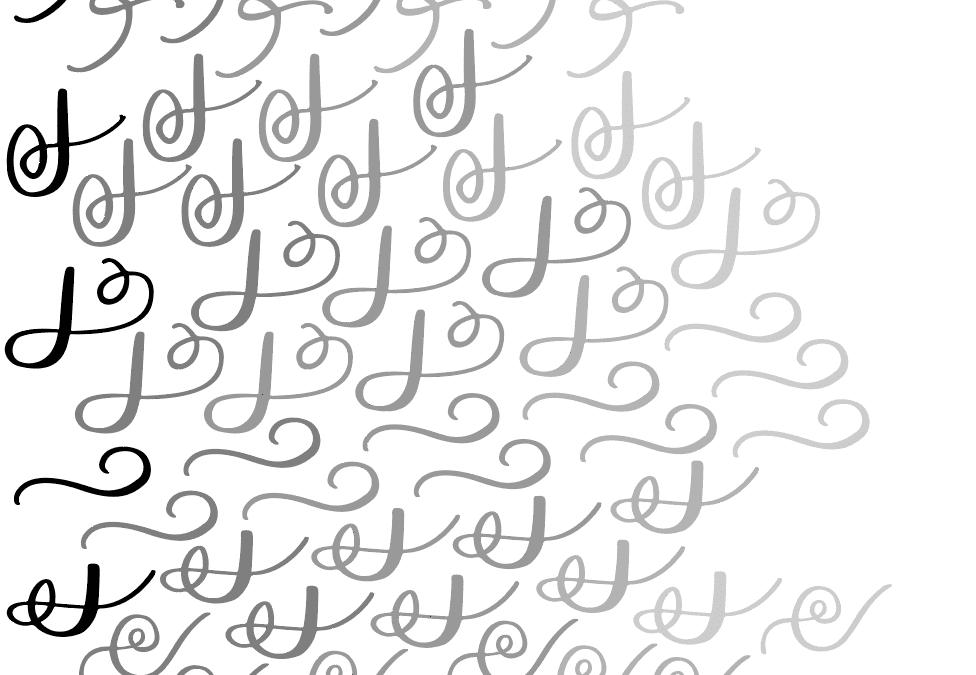 Modern Brush Calligraphy Flourish Worksheet