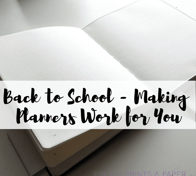 It's time for back to school! I've got some ideas for how to make those standard school planners work for you