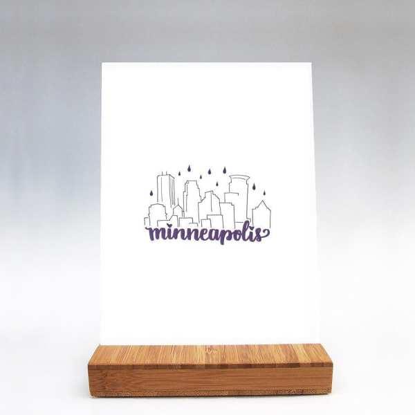 Purple Rain Minneapolis Art Print