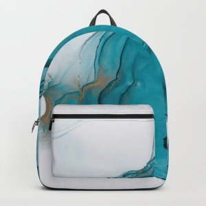 alcohol ink pattern backpack