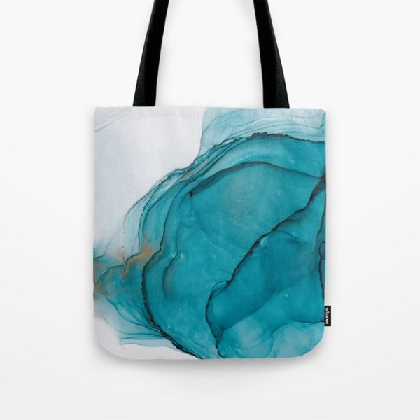 alcohol ink tote bag