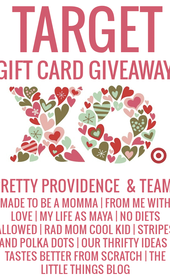 $100 target gift card giveaway from Pretty Providence & team!