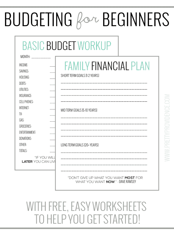Simple Free Budget Monthly Worksheet