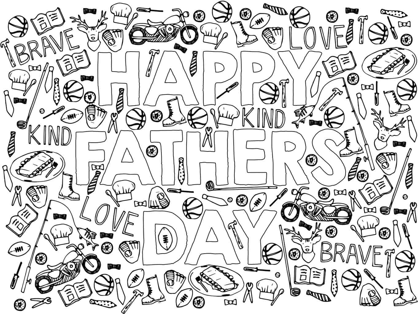Fathers Day Coloring Sheet