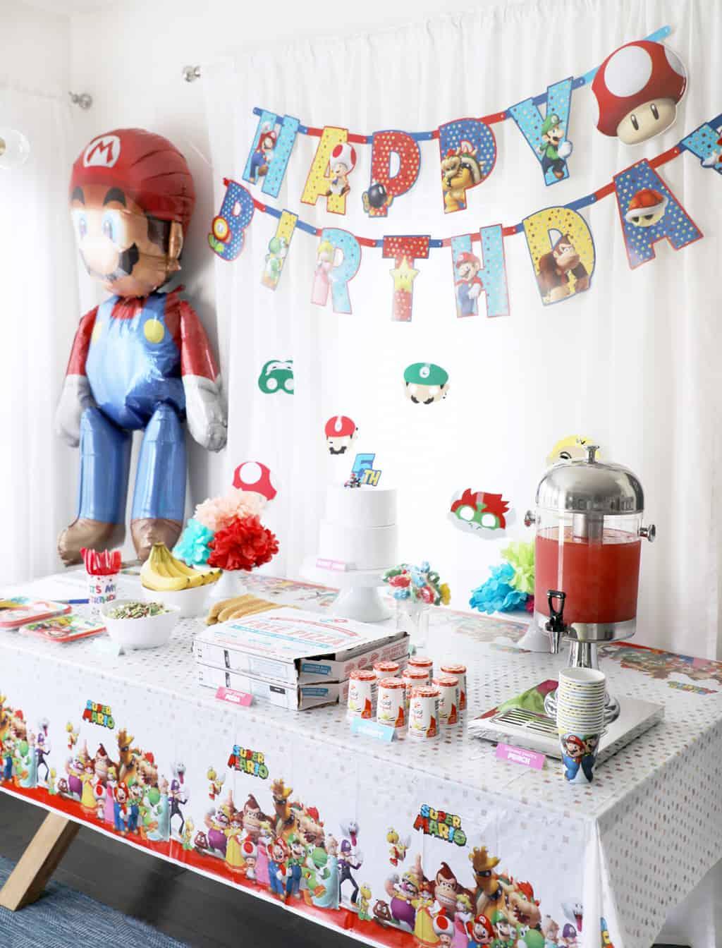 Mario Birthday Party Pretty Providence
